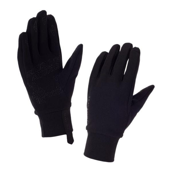 Gants Stretch Fleece Nano Sealskinz noirs