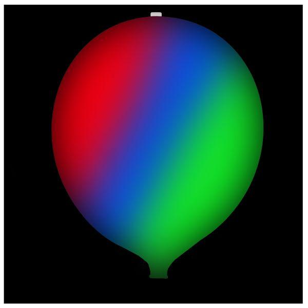 KNIXS Tac Ballon blanc LED multicolore