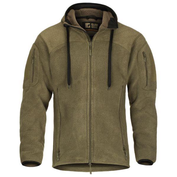 Veste à capuche Milvago ClawGear polaire grise/verte olive
