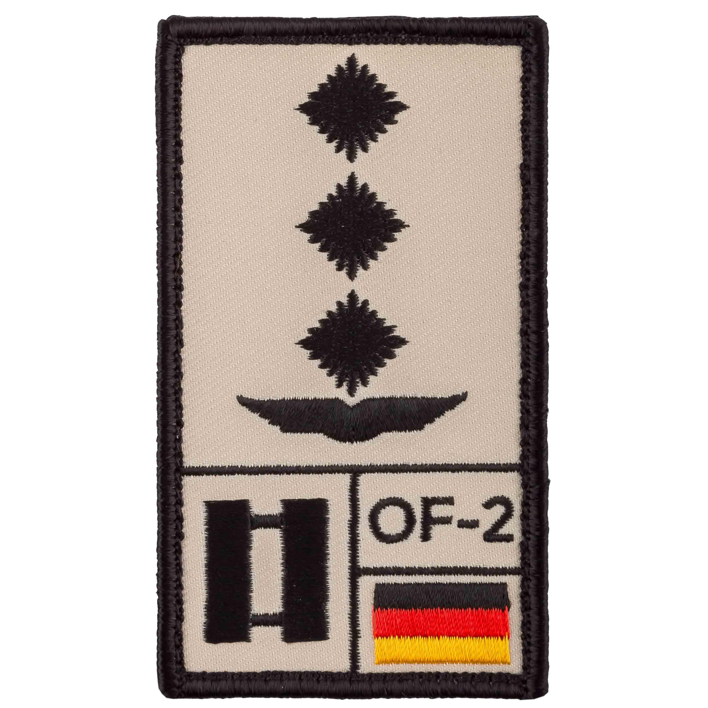 Café Viereck Patch Grade Hauptmann Armée de l'Air sable