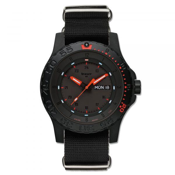 Montre Traser H3 Red Combat Bracelet Otan