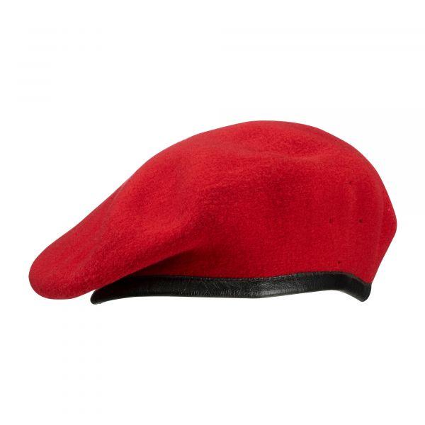 Béret BW rouge corail normes militaires