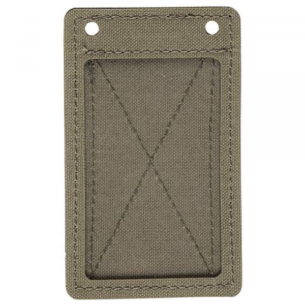 MD-Textil Porte-carte velcro gris pierre olive