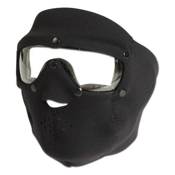 Masque de protection Néoprène transparent - noir