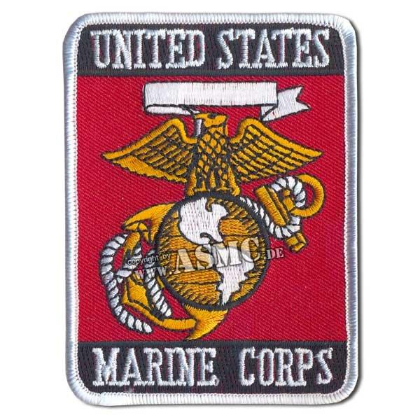 Insigne US Tissu Marine Corps rectangulaire
