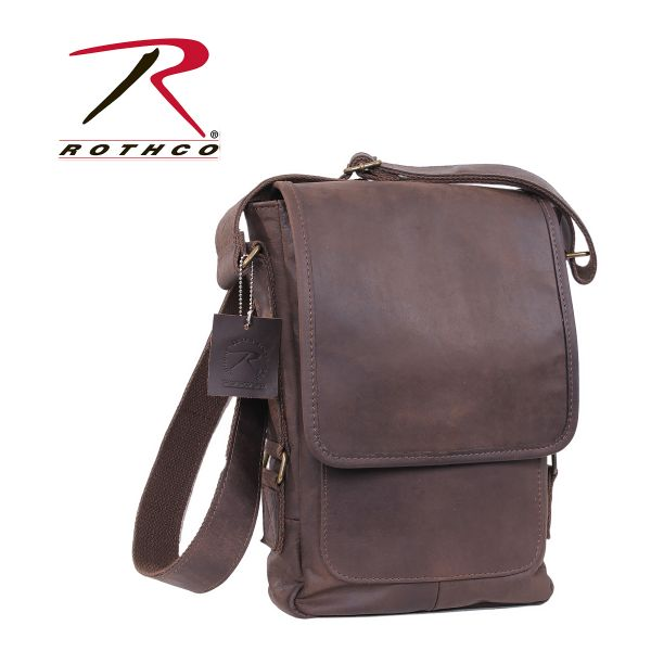 Sacoche pour Tablette Rothco Brown Leather Military Tech