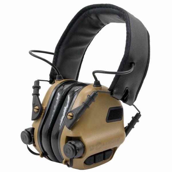 Earmor Casque anti-bruit électro. M31 Mark3 NRR 22 brun coyote