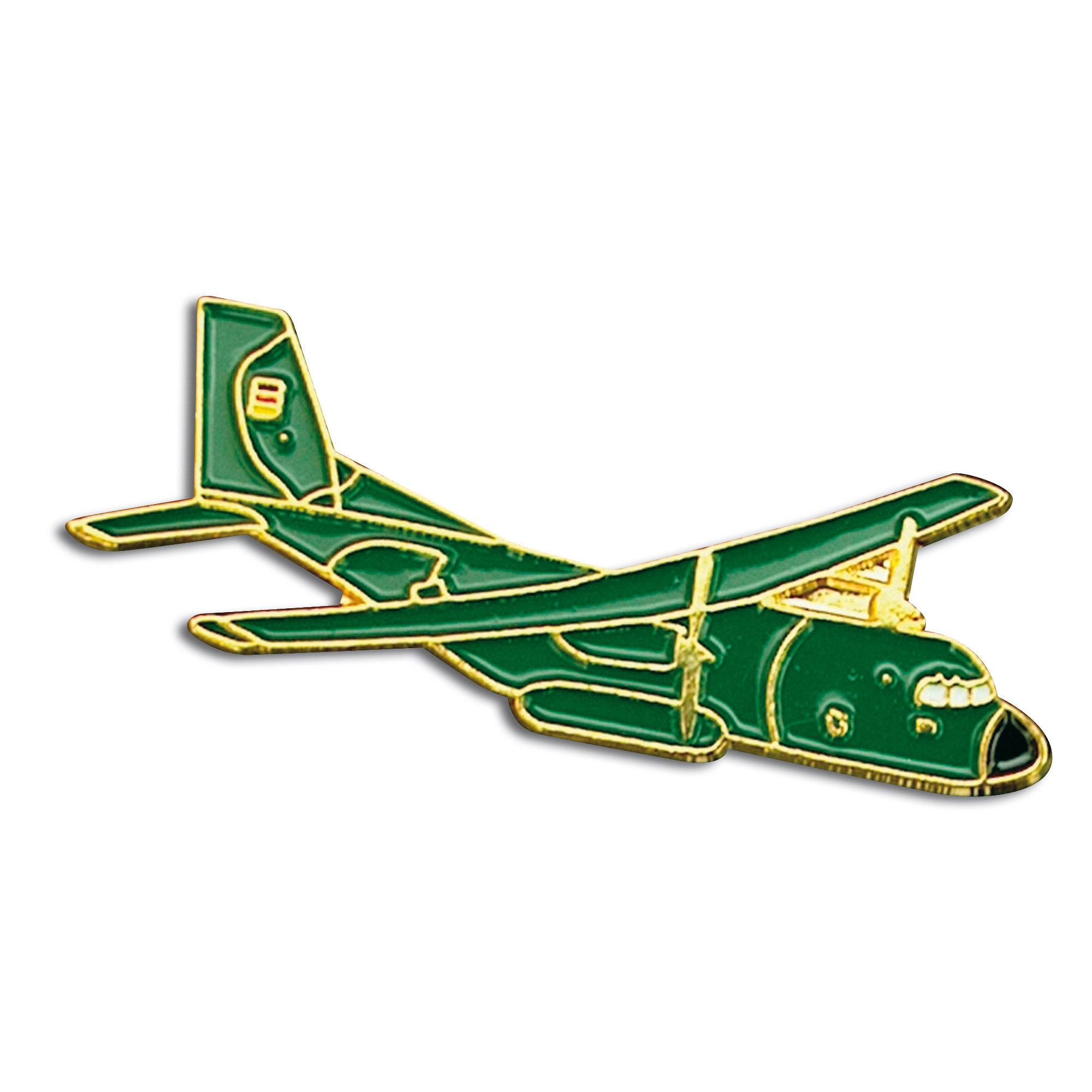 Pins Mini Métallique Transall vert