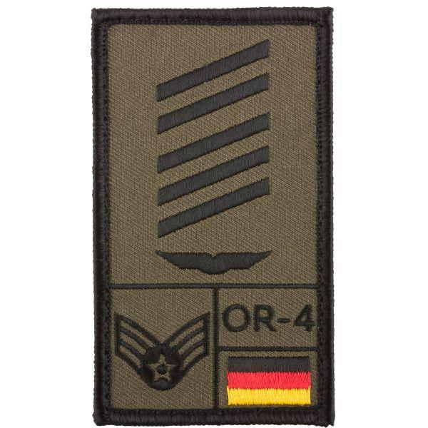 Café Viereck Rank Patch OSG Luftwaffe olive