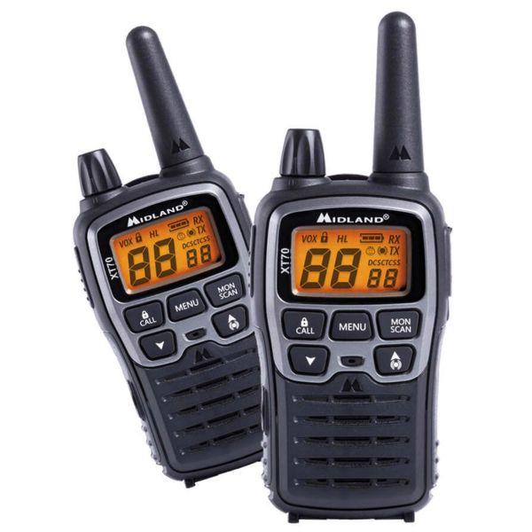 Talkie-walkie Midland XT70 paire PMR+LPD sous blister