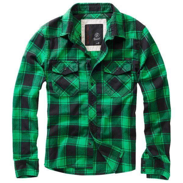 Brandit Checkshirt Oversize noir vert