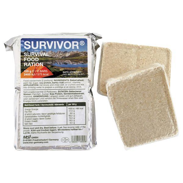 MSI Ration de secours Survivor 125 g