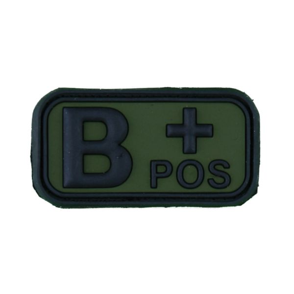 Patch 3D groupe sanguin B Pos TAP forest