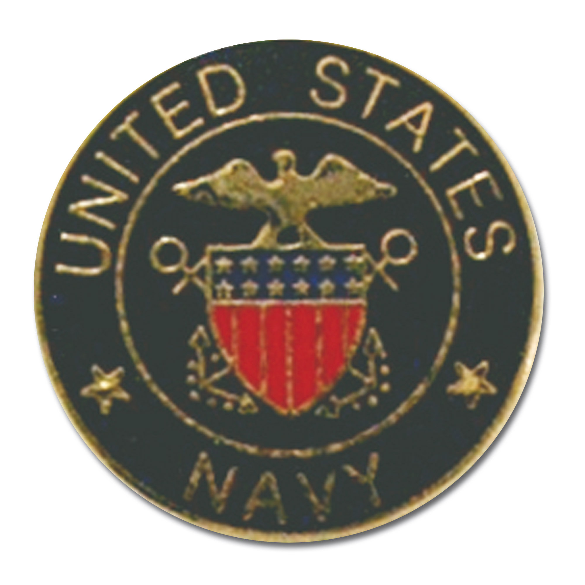 Pin Mini US Navy rond