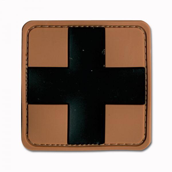 3D-Patch Red Cross Medic brun-noir