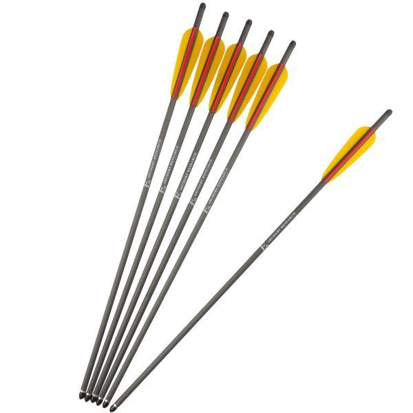 Trait en carbone EK Archery 22 pouces 6 pcs noir