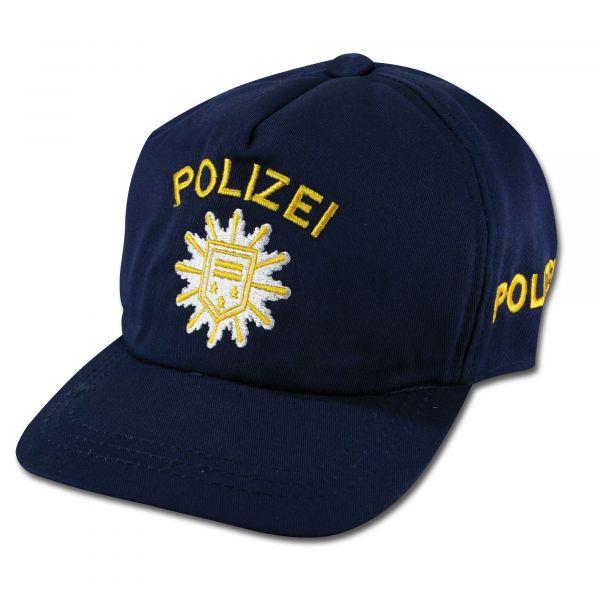Casquette Polizei pour enfants bleue