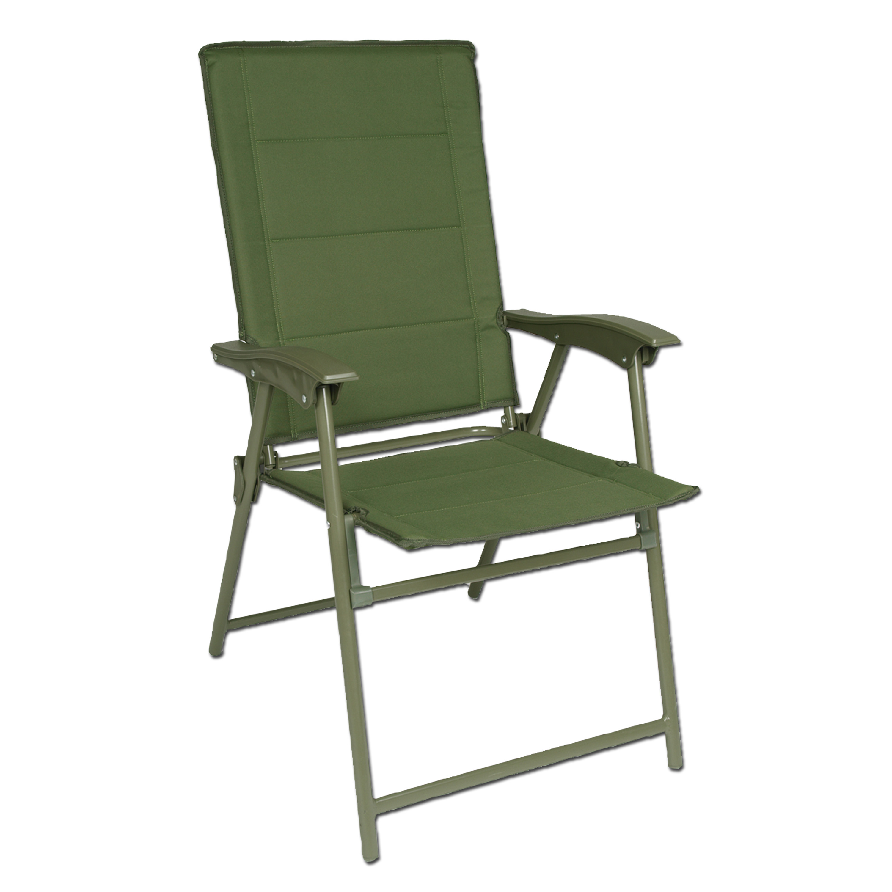Chaise pliante Army avec accoudoirs olive
