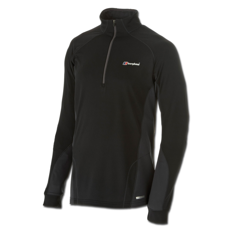 Maillot manches longues zippé Berghaus Thermal Base noir/gris