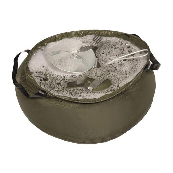 Bac à vaisselle pliable 10 L kaki