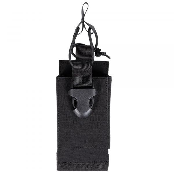 Mil-Tec porte-radio avec velcro au dos noir