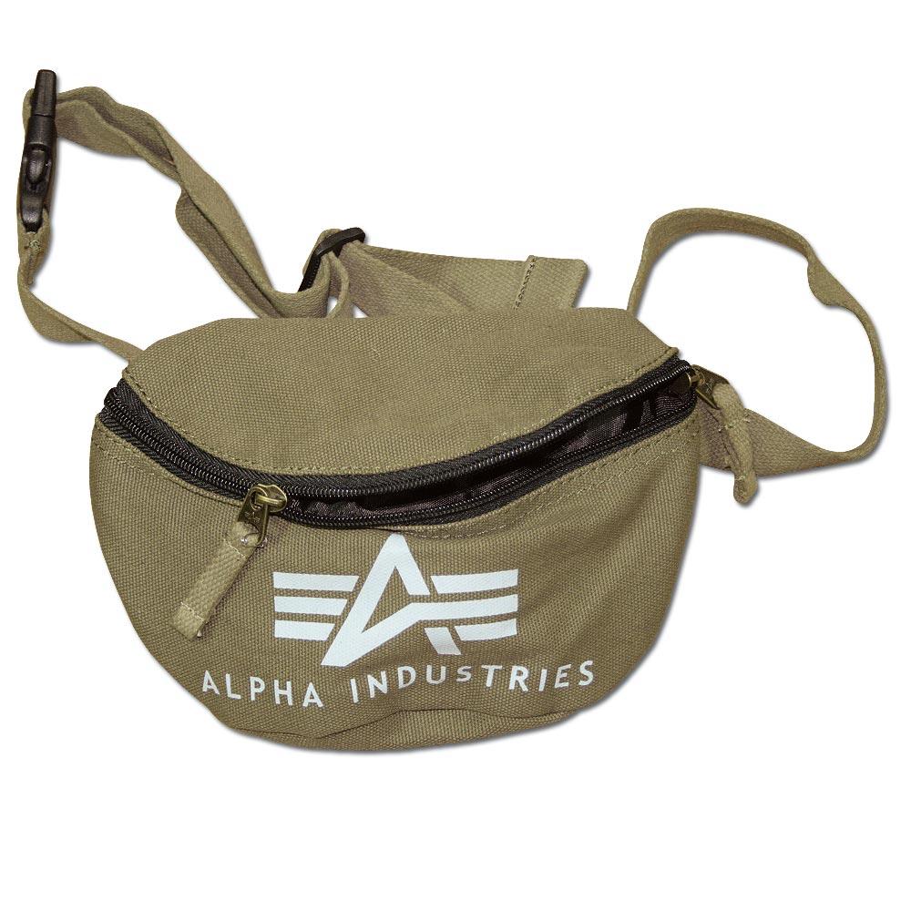 Alpha Industries Big A Canvas Waist Bag kaki