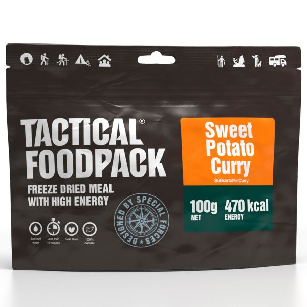 Tactical Foodpack Repas Outdoor Curry de Patates douces