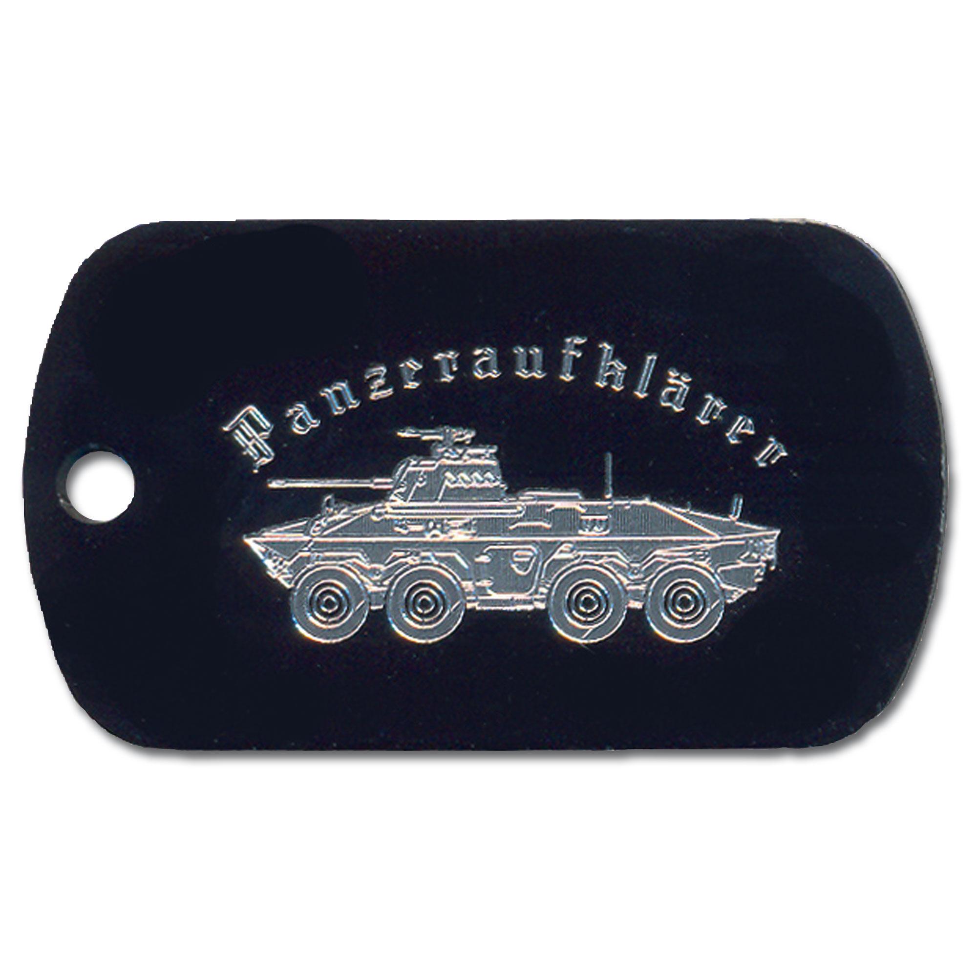 Plaque d'identité gravée Panzeraufklärer