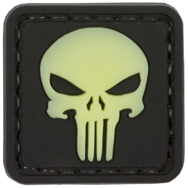 Patch 3D Punisher Skull TAP luminescent