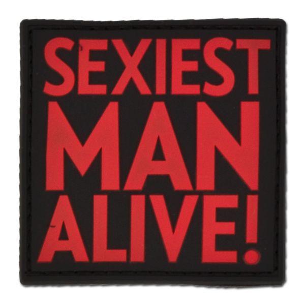 Patch 3 D SEXIEST MAN ALIVE blackmedic
