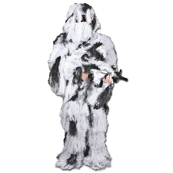 Ghillie suit camouflage neige