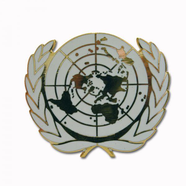 Insigne métallique béret BW ONU
