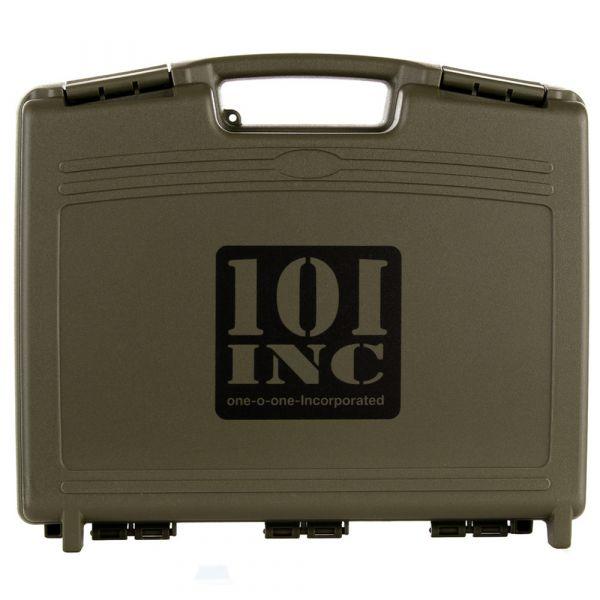 101 Inc. Mallette arme de poing avec rembourrage en mousse olive