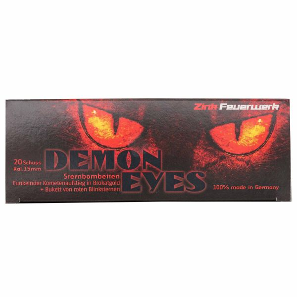 Zink Feuerwerk Feux d'artifice Demon Eyes 15 mm 20 pièces