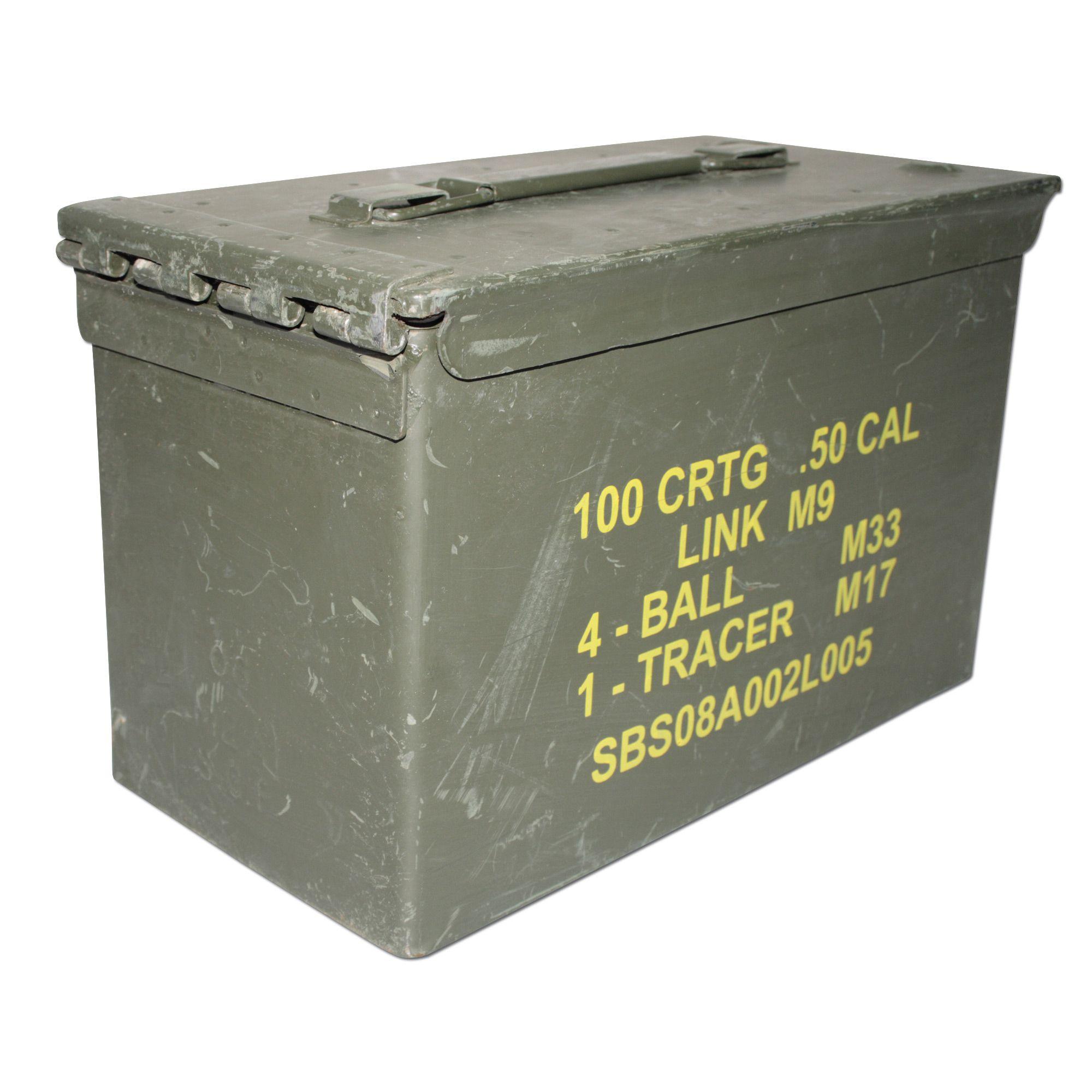 Armée Britannique munitions Ammo Box 50 Cal Militaire Vert Olive de rangement outils