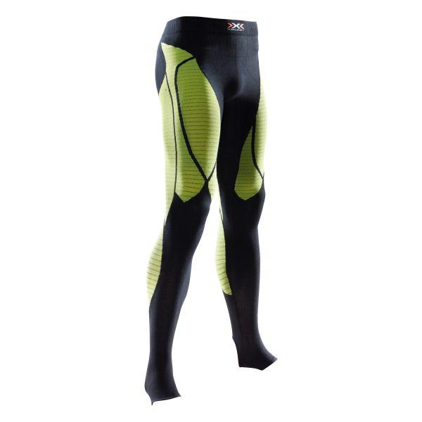 Pantalon X-Bionic Precuperation noir jaune