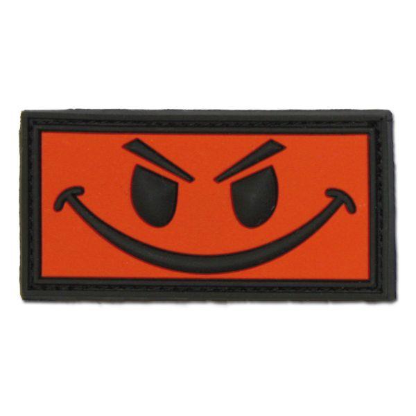 3D-Patch Evil Smiley rouge