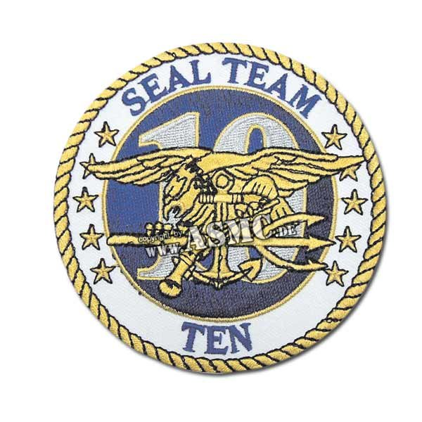 Insigne US Tissu Seal Team Ten