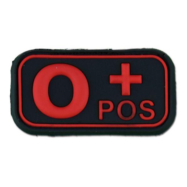Patch 3D groupe sanguin O Pos blackmedic
