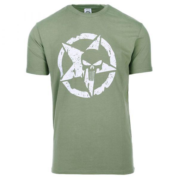 Fostex Garments T-Shirt Allied Star Punisher olive