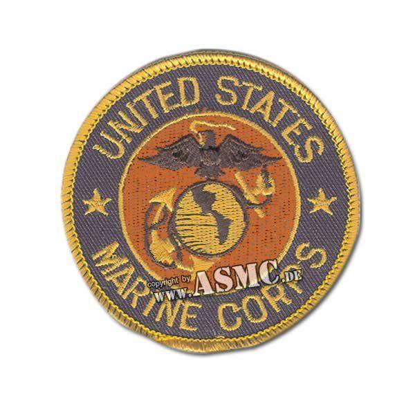 Insigne USMC ronde bleu-or-rouge