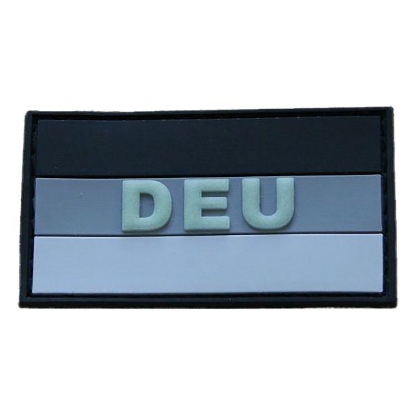 Patch Caoutchouc 3D DEU subbed gris-luminescent
