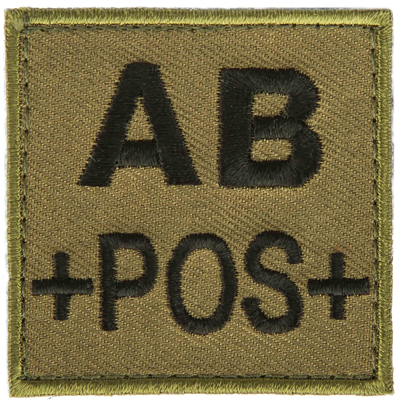 T.O.E Patch groupe sanguin AB positif vert