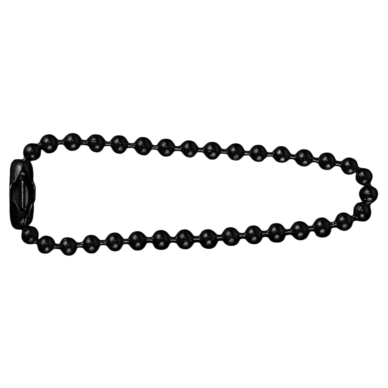 Chaine pour Plaque d'Identité 11cm Acier Inoxydable noir