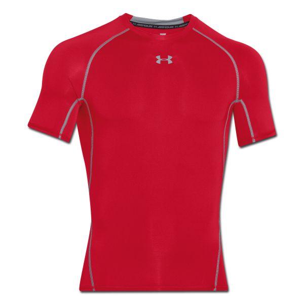 T-shirt de compression HeatGear Under Armour rouge