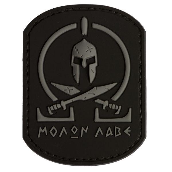 Patch 3D Molon Labe Spartan TAP noir