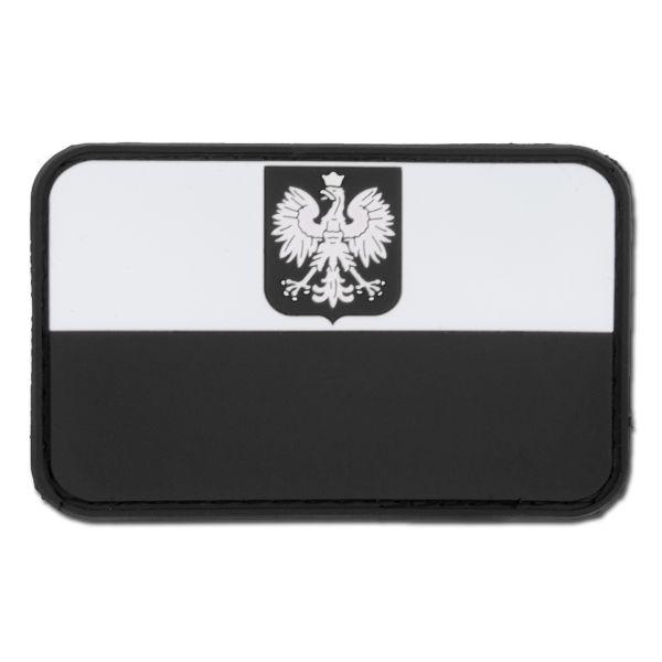 Patch 3D drapeau polonais avec blason swat
