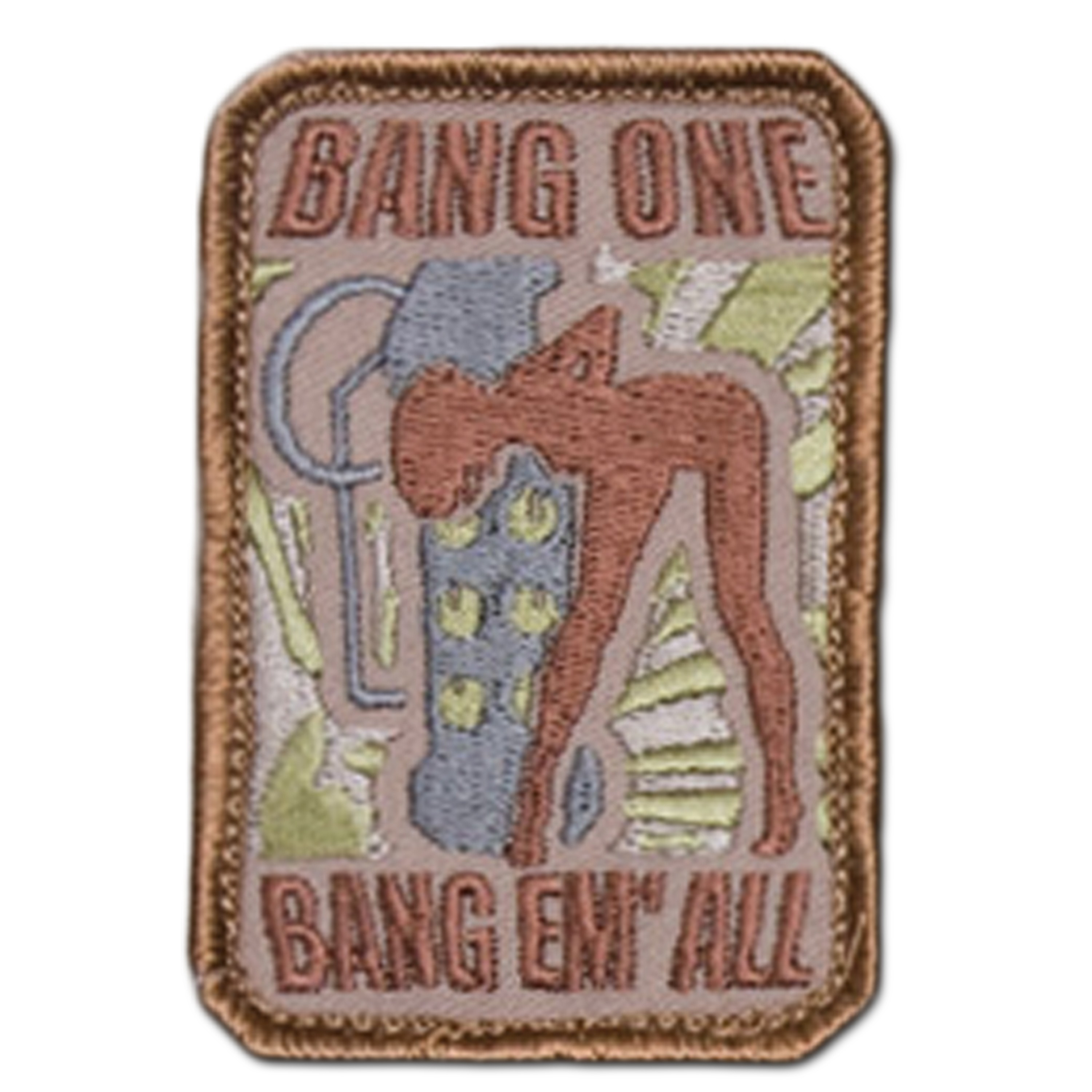Patch MilSpecMonkey Bang One Bang Em All small desert
